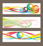 Set of abstract vector backgrounds Stock Photo