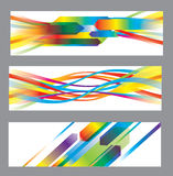 Set of abstract vector backgrounds Stock Images
