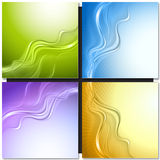 Set of abstract vector backgrounds Stock Photography