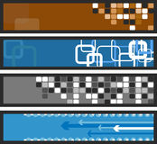 Set of abstract vector banners. Banners or tickets, templates etc. for you text Stock Photography