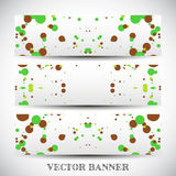 Set of abstract vector banners Royalty Free Stock Images