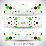 Set of abstract vector banners Royalty Free Stock Photo