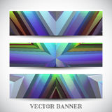 Set of abstract vector banners Royalty Free Stock Photos