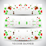 Set of abstract vector banners Stock Image