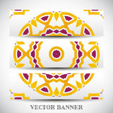 Set of abstract vector banners Stock Images