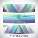 Set of abstract vector banners Stock Photo
