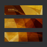 Set of abstract vector banners. Header. Luxury title. Layout footer design. Dynamics and movement in curves Stock Images