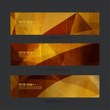 Set of abstract vector banners. Header. Luxury title. Layout footer design. Dynamics and movement in curves Royalty Free Stock Photography