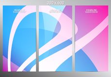 Set of abstract vector banners. Vector illustration Stock Image