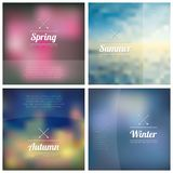 Set of abstract  vector blurred backgrounds Stock Photography