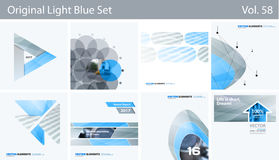 Set of Abstract vector design elements for graphic layout. Modern business background template Royalty Free Stock Photos