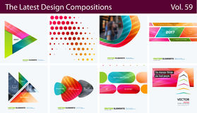 Set of Abstract vector design elements for graphic layout. Modern business background template Stock Images