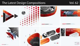 Set of Abstract vector design elements for graphic layout. Modern business background template Stock Photo