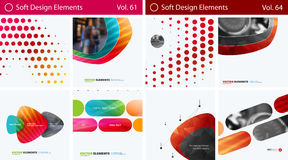 Set of Abstract vector design elements for graphic layout. Modern business background template Stock Photography