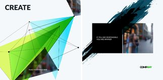 Set of abstract vector design elements for graphic template. Royalty Free Stock Photo