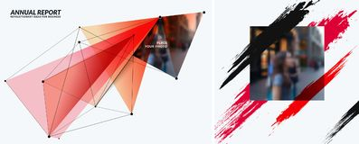 Set of abstract vector design elements for graphic template. Royalty Free Stock Photography