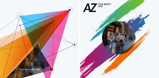 Set of abstract vector design elements for graphic template. Royalty Free Stock Image