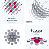 Set of Abstract vector design grey round elements for graphic template Royalty Free Stock Images