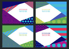 Set of abstract vector flat creative background. Multicolor colo Stock Images