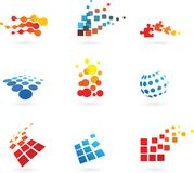 Set of  abstract vector icons Royalty Free Stock Images