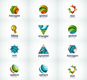 Set of abstract vector logo icons Stock Image