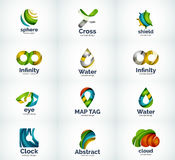 Set of abstract vector logo icons Royalty Free Stock Photography