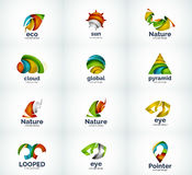 Set of abstract vector logo icons Stock Photo
