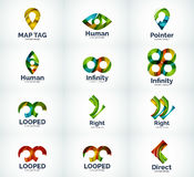 Set of abstract vector logo icons Stock Images