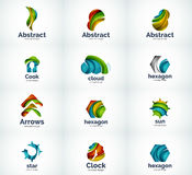 Set of abstract vector logo icons Stock Photos