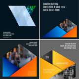 Abstract material design style of vector elements for graphic template. Modern background. Colourful layers for business. Set of abstract vector material design Royalty Free Stock Images