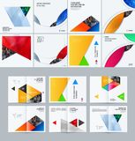Abstract material design style of vector elements for graphic template. Modern background. Colourful layers for business Royalty Free Stock Photos