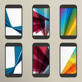 Set of abstract vector savers for screens Stock Photos