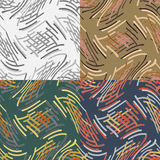 Set of abstract vector seamless pattern Royalty Free Stock Photos