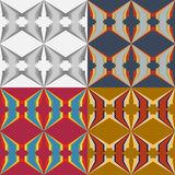 Set of abstract vector seamless patterns Stock Images