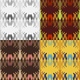 Set of abstract vector seamless patterns Royalty Free Stock Photo