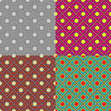 Set of abstract vector seamless patterns Stock Photos