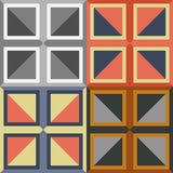 A set of abstract vector seamless patterns. Of squares on a solid background Royalty Free Stock Photography