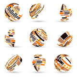 Set of abstract vector spheres Stock Photo