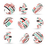 Set of abstract vector spheres Royalty Free Stock Photos