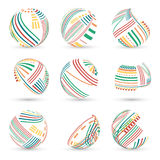 Set of abstract vector spheres Stock Image