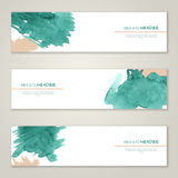 Set of abstract vector watercolor headers for Stock Photos