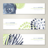 Set of abstract vector watercolor headers for Royalty Free Stock Images