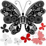 Set abstract vintage butterflies Stock Photos
