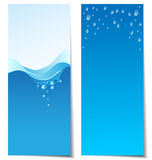 Set of abstract water banners Royalty Free Stock Photos
