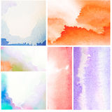 Set of Abstract Water Color Stock Photo