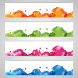 Set abstract watercolor background Royalty Free Stock Photos