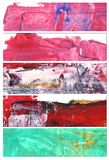 Set of abstract watercolor banners. Hand painted by me and isolated on white background. All elements used are my work Stock Photography