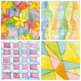 Set of abstract watercolor hand painted background. Paper textur Royalty Free Stock Photos
