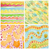 Set of abstract watercolor hand painted background. Paper textur Stock Images