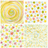 Set of abstract watercolor painted background. Stock Image